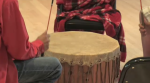 A drumming circle was held to mark National Indigenous Peoples Day in Kitchener.