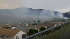 Crews tackle wildfires near homes in Kamloops