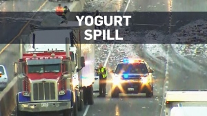 Yogurt spill