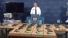Deputy Police Chief Jim Ramer speaks to media
