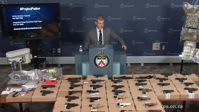 Toronto police provide an update on Project Patton, a nine-month investigation into the alleged criminal organization behind the Five Point Generalz.
