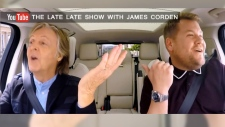 "Paul McCartney appears on ""Carpool Karaoke "" with James Corden."