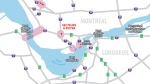 Several major roads will be closed for construction during the weekend of June 22. (Graphic: Mobility Montreal)