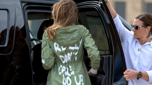 Melania in spot over jacket