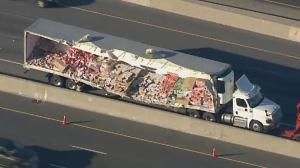 Yogurt spill on Highway 401