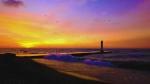 Sunset at Port Bruce pier
