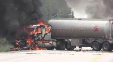 Victim in Sunday's fiery crash identified