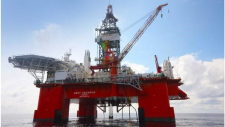 The Seadrill West Aquarius drilling platform is shown in this undated handout photo. Nova Scotia's offshore petroleum regulator has suspended drilling by BP Canada Energy Group off the province's coast. THE CANADIAN PRESS/HO - BP Canada