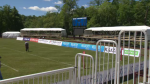 A temporary stadium has been erected at Halifax Wanderers Grounds to host an international rugby match between Canada and the United States.