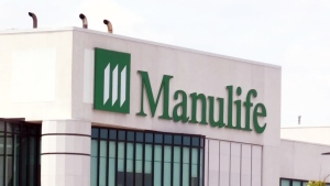 A Manulife building in Waterloo, Ont., is pictured on Thursday, June 21, 2018.