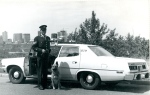 Sgt. Vallevand with partner Monty seen in this picture taken in the late 1970s. (Supplied)