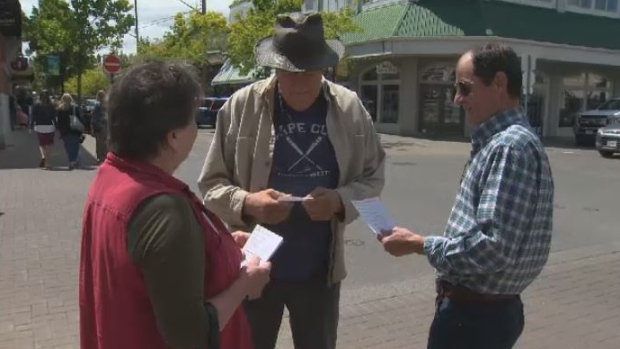 Politicians like Coun. Sharon Jackson are making their final pushes before Duncan and North Cowichan residents vote on whether to join the regions on Saturday, June 23. (CTV Vancouver Island)