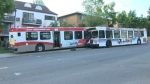 Pair of city buses crash in southwest Calgary