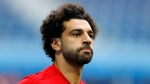 n this file photo dated Monday, June 18, 2018, Egypt's Mohamed Salah practices during Egypt's official training on the eve of the group A match between Russia and Egypt at the 2018 soccer World Cup, in St. Petersburg, Russia. (AP Photo/Efrem Lukatsky, FILE)
