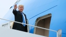 President Donald Trump boards Air Force One at Andrews Air Force Base, Md., Saturday, June 23, 2018, for a trip to Las Vegas, Nev. (AP Photo/Manuel Balce Ceneta)