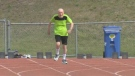 95-year-old Winnipegger, Lou Billinkoff broke the Canadian World record for the 100M sprint. (Source: Courtney Dumas/ CTV Winnipeg)