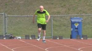 95-year-old Winnipegger, Lou Billinkoff broke the Canadian World record for the 100M sprint. (Source: Courtney Dumas/ CTV Winnipeg)