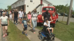More than 50 people in the community of Scotsburn, N.S. walked to raise funds for muscular dystrophy research and awareness