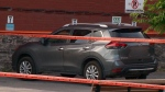 A six-month-old child was discovered lifeless in this vehicle in Montreal on June 22 after his father forgot to drop him off at daycare. (CTV Montreal)
