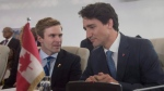 New Brunswick Premier Brian Gallant speaks with Canadian Prime Minister Justin Trudeau THE CANADIAN PRESS/Adrian Wyld