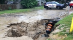 City crews spent majority of Sunday dealing with a sinkhole on Patricia Avenue and Talbot Street. June 24, 2018.