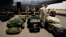 The first Canadian troops arrive at a UN base in Gao, Mali, on Sunday, June 24, 2018. THE CANADIAN PRESS/Sean Kilpatrick
