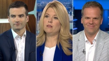 MPs Mark Holland, Michelle Rempel and Matthew Dube on CTV's Question Period on Sunday June 24, 2018. (CTV News)