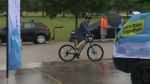 Despite the rainy weather over 220 bike riders gathered in St. Clements to raise awareness for mental health. June 24, 2018.
