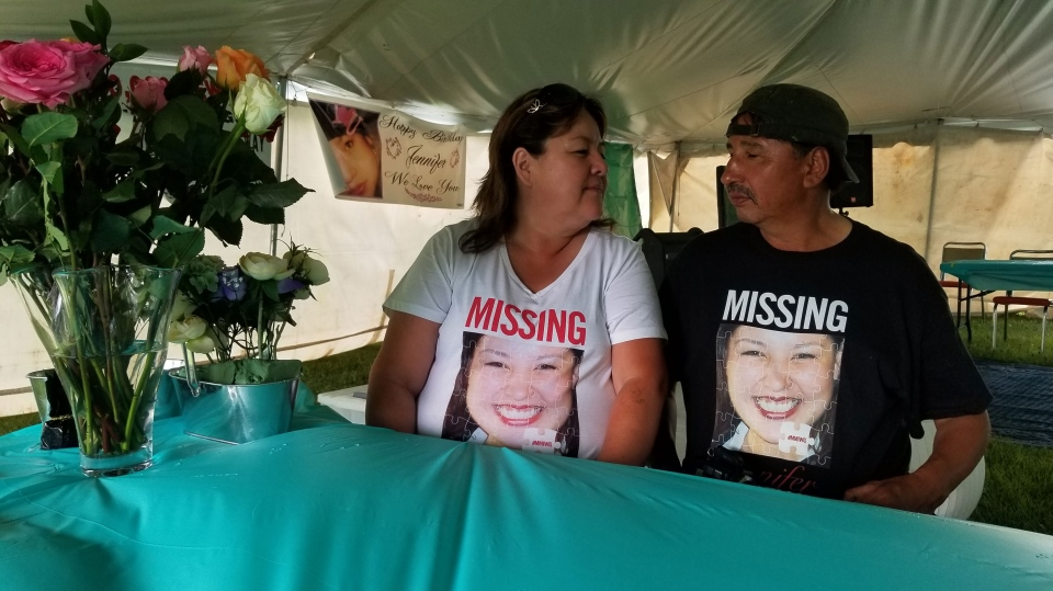 After ten years of searching for their missing daughter, Wilfred and Bernice Catcheway still combing the province to find her. (Source: Daniel Timmerman/ CTV Winnipeg)