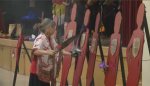 A somber ceremony at New Brunswick's Saint Mary's First Nation on Sunday remembered two women from the community who lost their life to domestic violence.