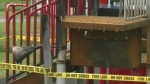 Police search for suspects after playground fire