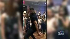 Edmonton Oiler Nurse's wedding dance-off