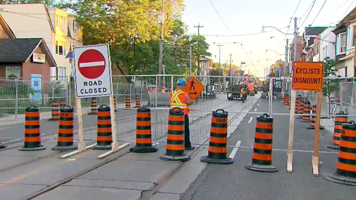 Road closed at Dundas and Sherbourne