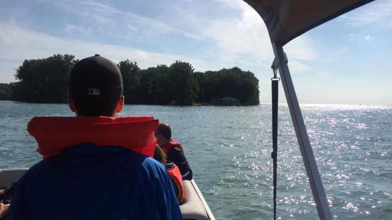 Boat ride to Peche Island in Windsor, Ont., Monday, June 25, 2018. (Sacha Long / CTV Windsor)