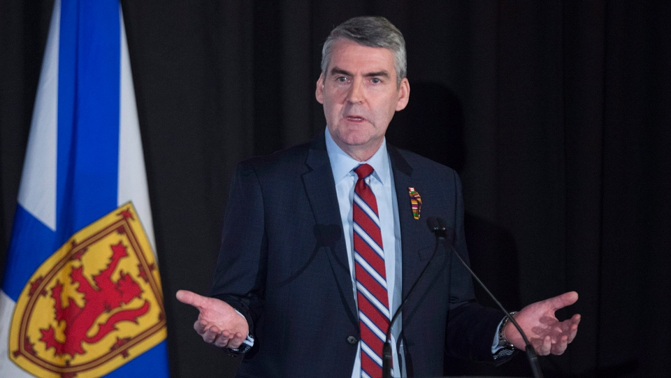 Premier Stephen McNeil speaks in Halifax on February 7, 2018. THE CANADIAN PRESS/Andrew Vaughan