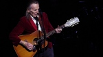 Legendary singer-songwriter Gordon Lightfoot performs his classic hits at the McPherson Playhouse in Victoria, B.C., on October 23, 2017. (THE CANADIAN PRESS/Chad Hipolito)
