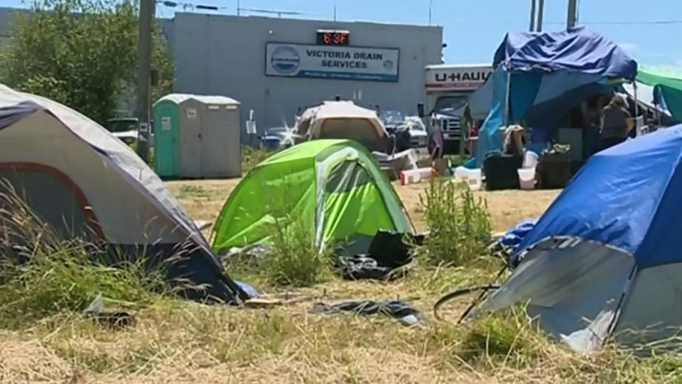 Crime skyrockets around Saanich's tent city