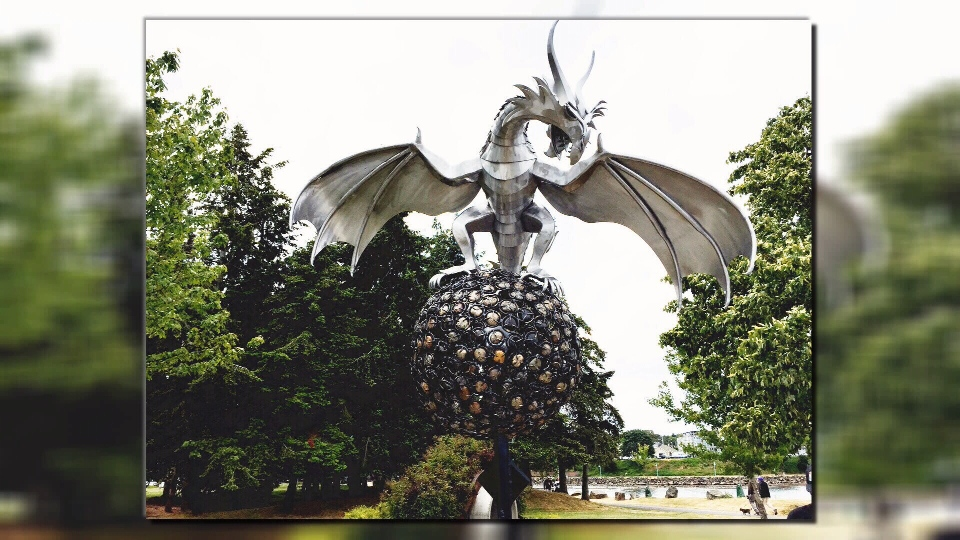 """Rock Dragon"" was part of an art program which saw 11 projects installed in city parks and public spaces."