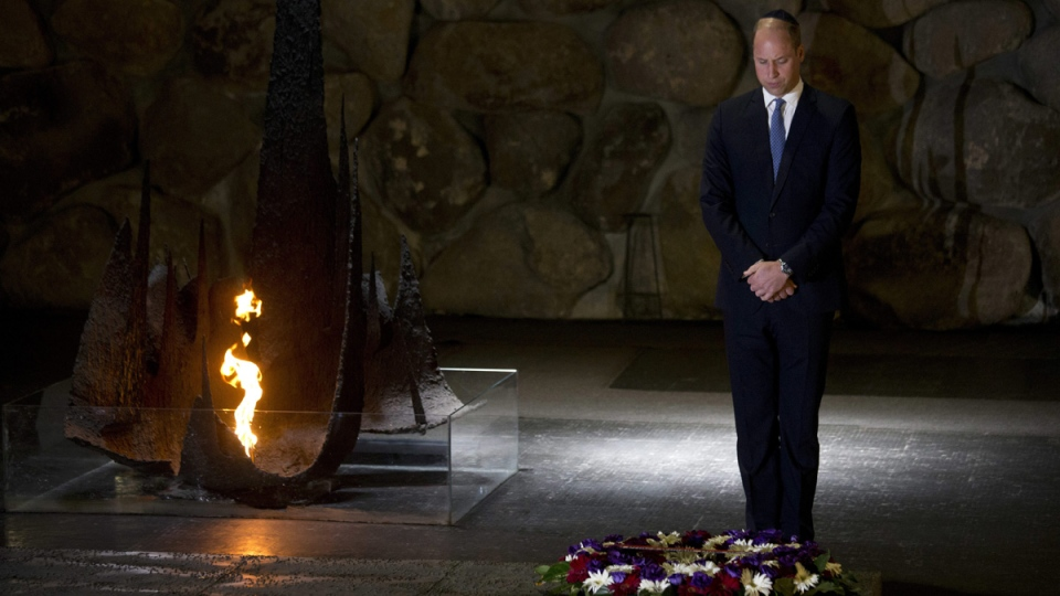 Prince William At Yad Vashem Holocaust Memorial
