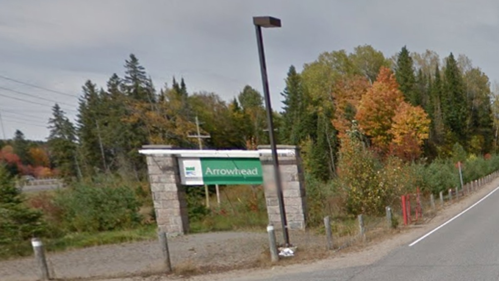 Entrance to Arrowhead Provincial Park