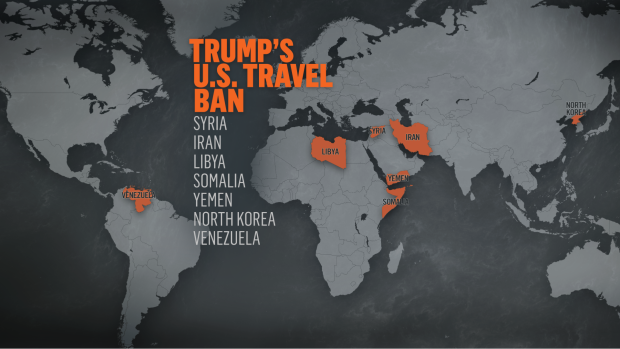 Countries impacted by Trump's travel ban