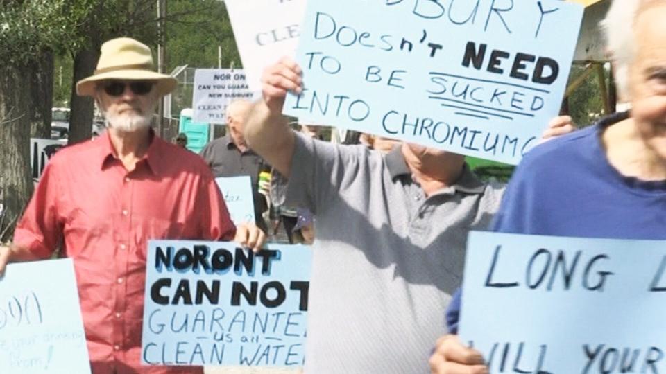 Sudbury ferrochrome smelter protest