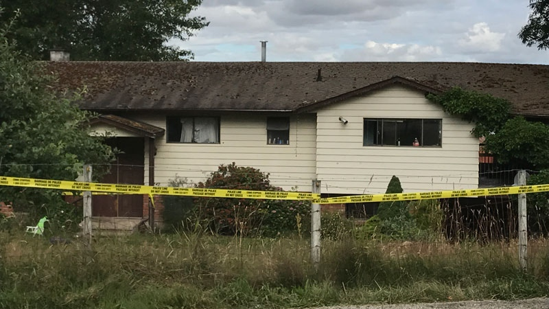 An injured woman and a man with gunshot wounds were found inside this home in Surrey on June 25, 2018.
