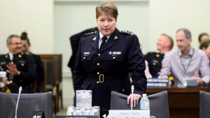 RCMP Commissioner Brenda Lucki appears at a House of Commons Standing Committee on Public Safety and National Security in Ottawa on Monday, May 7, 2018. (THE CANADIAN PRESS/Sean Kilpatrick)