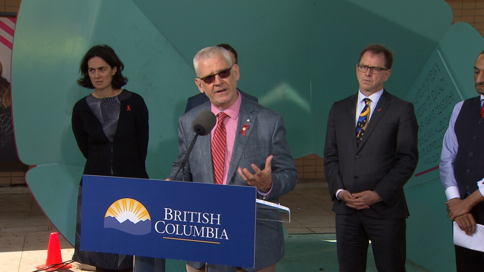 Julio Montaner, director of the BC Centre for Excellence in HIV/AIDS, speaks to reporters on Tuesday, June 26.