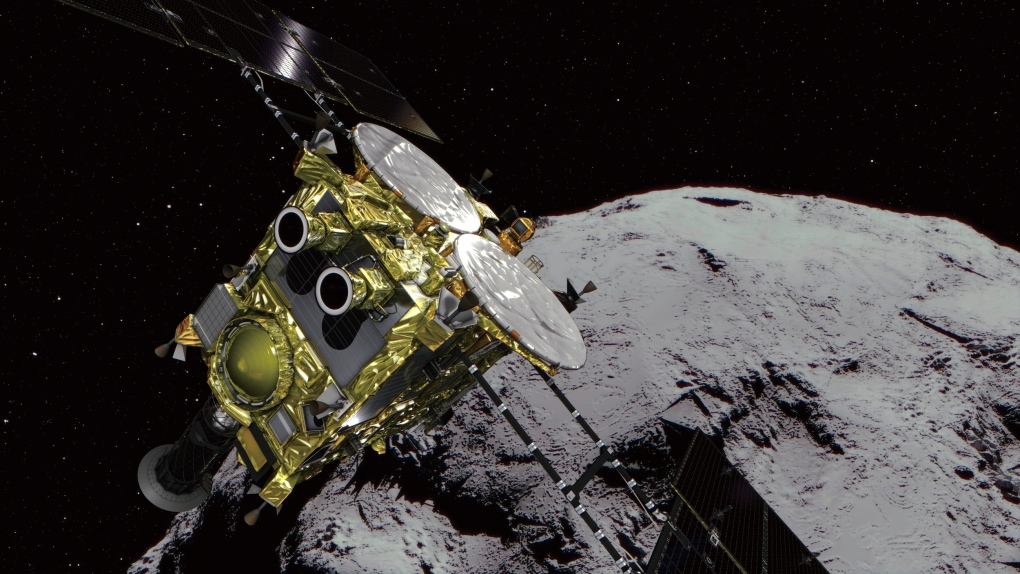 Watch out-of-this-world video of space probe landing on asteroid