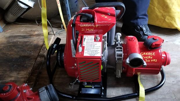 fire pump stolen