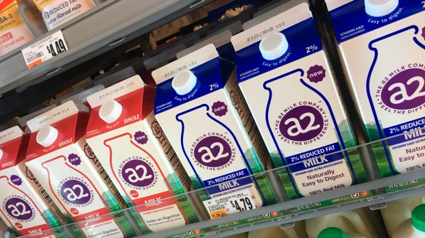 Milk for sale at Giant Food Stores