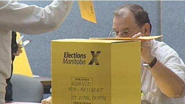 File image of an Elections Manitoba ballot box.