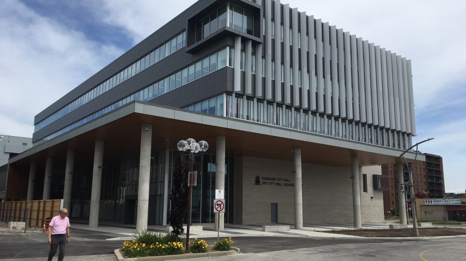 Windsor's new city hall in Windsor, Ont., June 26, 2018. (Chris Campbell / CTV Windsor)